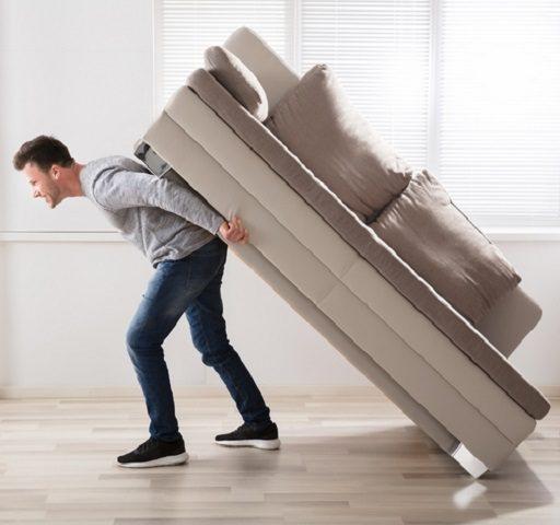ترفندهای به تنهایی حمل کردن مبلمان سنگین
